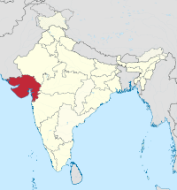 Gujarat in India (disputed hatched).svg