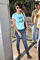 Gul Panag, cast of 'Fatso' arrives to sell tickets at PVR, Juhu (2).jpg