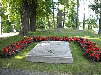 Prince Gustaf Adolf, Duke of Västerbotten - Gustaf Adolf's and Sibylla's grave on Karlsborg Island in Solna, Sweden.