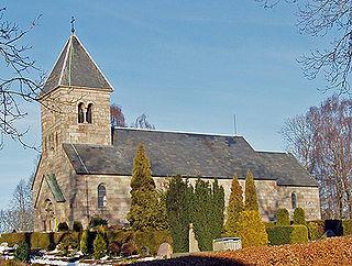 Kjellerup Town in Denmark