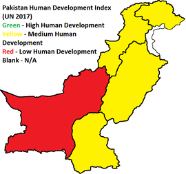 List of districts of Pakistan by Human Development Index - Wikipedia