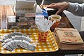 HK 旺角 Mongkok 始創中心 Pioneer Centre exhibition Oct 2017 IX1 cafe drink Taikoo sugar paper bags n cup plastic forks spoons.jpg