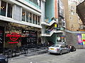 HK Central Lan Kwai Fong shop Hard Rock Cafe LKF Tower Dec-2015 white car parking.JPG