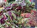 HK WC Wan Chai Road Bowrington Road Market vegetable red leaves April 2021 SS2 01.jpg