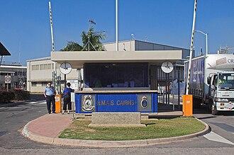 HMAS Cairns (naval base) - Sentry gate at the entrance to HMAS Cairns