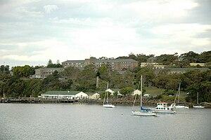 HMAS Penguin (naval base) - Image: HMAS Penguin from Balmoral Beach