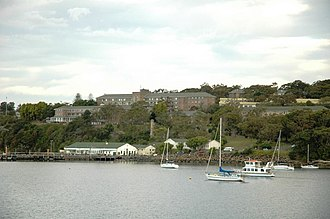 HMAS Penguin (naval base) - Image: HMAS Penguin from Balmoral Beach