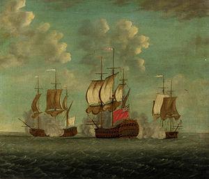 HMS Centaur chasing the Vaillant and Amethyste January 1760.jpg