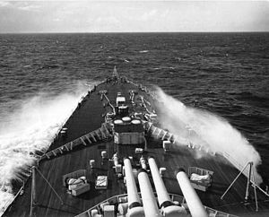 HMS Vanguard (23) - Vanguard during NATO Operation Mainbrace, 1952