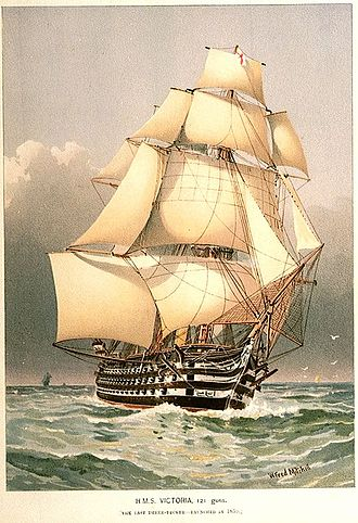 William Frederick Mitchell - Image: HMS Victoria 121 guns