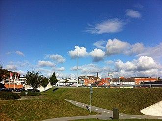 Hadsund - The photo was taken north of Hadsund Bridge. picture shows Hadsund