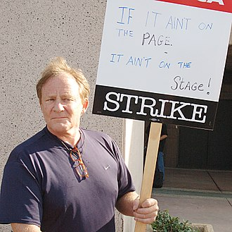 Charles Haid - Haid during the 2007 Writers Guild of America strike