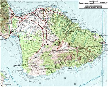 Topographic Map Of Maui.Maui Wikipedia