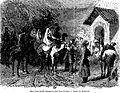 Halte d'une famille géorgienne prés d'une fontaine. Dessin de Blanchard. Le Tour du monde (Paris. 1860-1914).jpg
