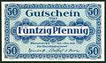 Handelskammer Hannover Gutschein über 50 Pfennig 1. Dezember 1919 Unterschrift Beindorff Wolfeel von Roon J. C. König & Ebhard. Bildseite.jpg
