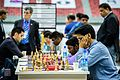 Harikrishna Pentala and Indian team BW (30201186993).jpg