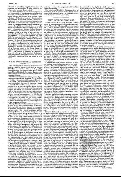 File:Harper's Weekly Editorials by Carl Schurz - 1897-10-02 - True Non-Partisanship.PNG