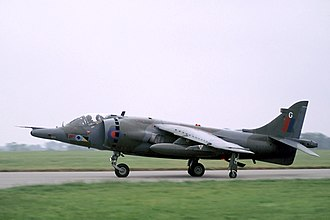 Structure of the Royal Air Force in 1989 - A Harrier GR.5 of No. 233 Operational Conversion Unit RAF.