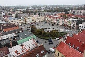 Havlíčkův Brod - Havlíček Square seen from the tower of the Church of the Assumption