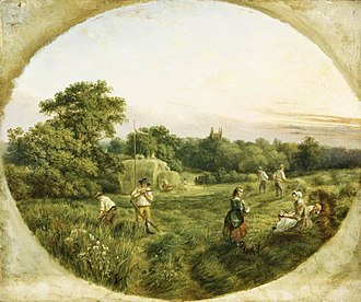Handsworth, West Midlands - Hay-Making, Handsworth (1859) by William Ellis
