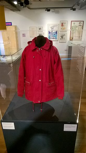 Hayley Cropper - Hayley's trademark red anorak, in the People's History Museum in Manchester