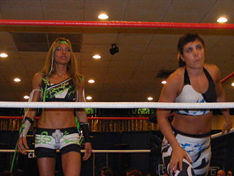 Daizee Haze - Haze (left) and Sara Del Rey in October 2010