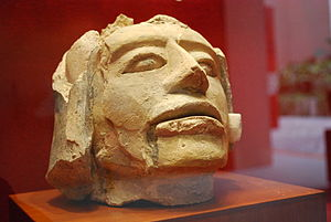 El Tajín - Sculpture on display at the site museum