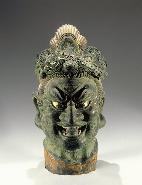 Slika:Head of a Guardian 13thcentury Japan.jpg