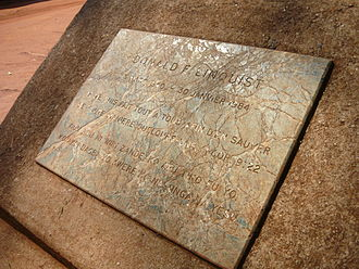 Obo - Image: Headstone of Mission Donald Lindquist at Obo Mission, Central African Republic