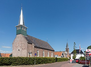 Village in Friesland, Netherlands