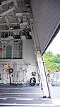 Helicopter hangar of JS Fuyuzuki(DD-118) inside view at JMSDF Maizuru Naval Base July 27, 2014 06.jpg