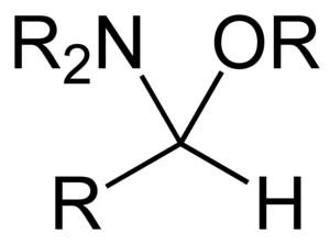 Aminal - Hemiaminal ether derived from an aldehyde