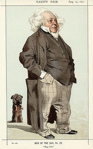 "Henry Cole - Cole caricatured, as ""King Cole"", in Vanity Fair, 19 August 1871."