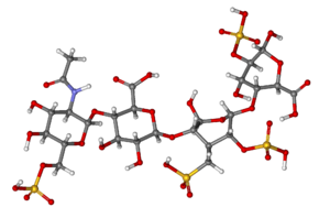 Heparin - Ball-and-stick model of heparin