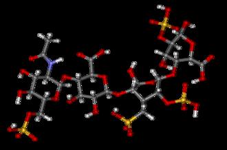 Heparin - Ball-and-stick model of heparin