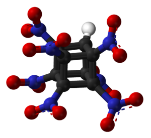 Heptanitrocubane - Image: Heptanitrocubane 3D balls
