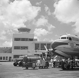 Curaçao International Airport - The original tower