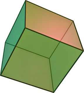 Cube A geometric shape with 6 square faces
