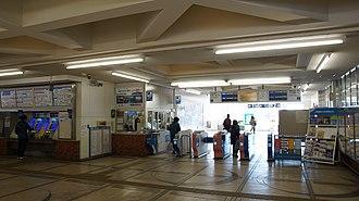 Higashi-Rinkan Station - Image: Higashi Rinkan Station ticket barriers 20161216