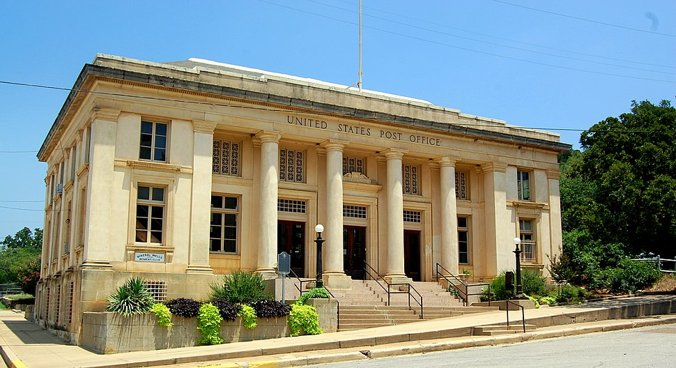 Historic Post Office in Mineral Wells, Texas