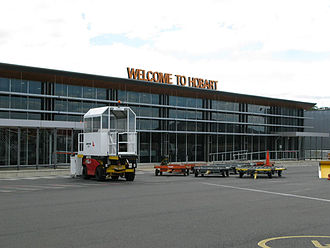 Hobart International Airport - Domestic terminal as seen from the tarmac