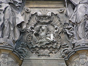 Faith in Christianity - Relief of allegory of Faith on the Holy Trinity Column in Olomouc
