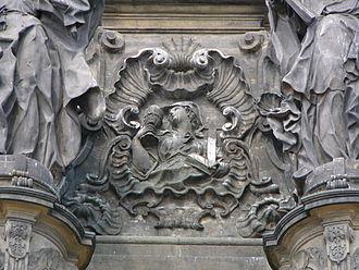Faith in Christianity - Relief of allegory of Faith on the Holy Trinity Column in Olomouc
