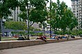Homeless people sleeping in Pershing Square in Downtown Los Angeles (DTLA) 12.jpg