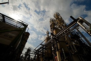 UOP LLC - A Honeywell refinery producing green diesel from natural oils in Pasadena, Texas.
