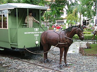 Bowbazar - Horse-drawn tram – life-size model at City Centre arcade, Kolkata