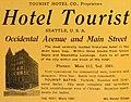 Hotel Tourist (1911) (ADVERT 223).jpeg