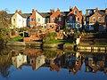 Houses beside the Kennet, Reading - geograph.org.uk - 633839.jpg