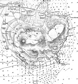 Howth Head - Map of Howth Head with peaks