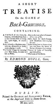 Traité du jeu de backgammon, par Edmond Hoyle, 1743